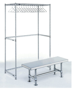 Eagle Group Gowning Rack-Bench