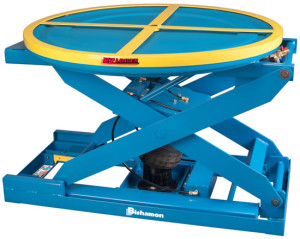 Bishamon Auto-Lift-Table-EZ-Loader Carousel