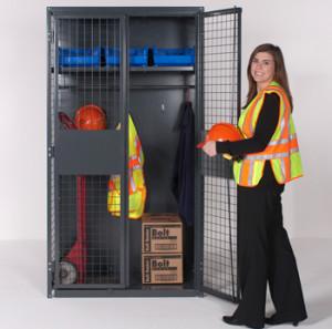 WireCrafters-Industrial-Storage-Locker-with-Stored-Equipment